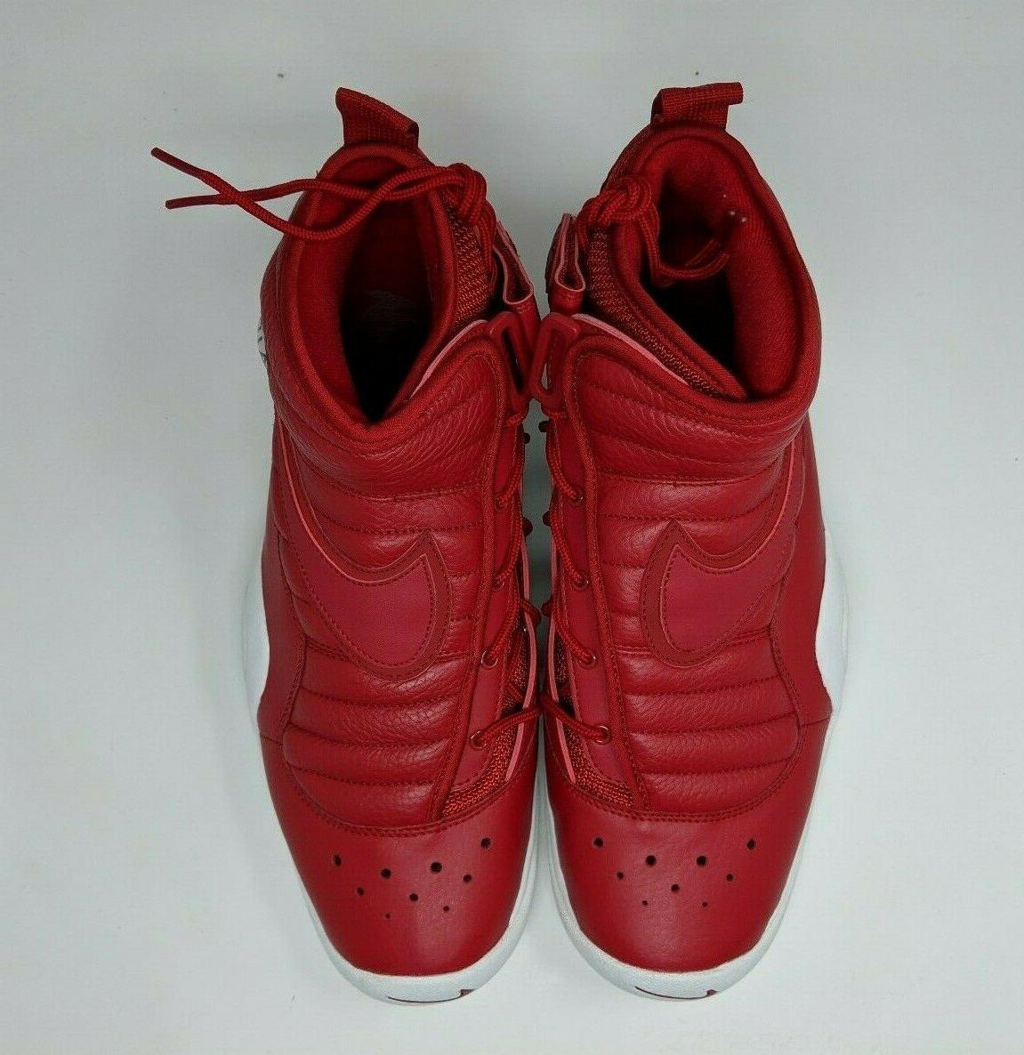 Nike Air Shake Men's Red Leather Shoes