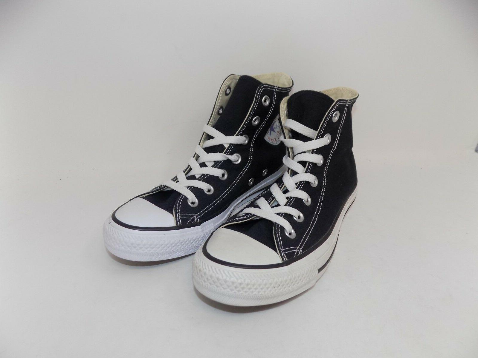 all star unisex black canvas high top