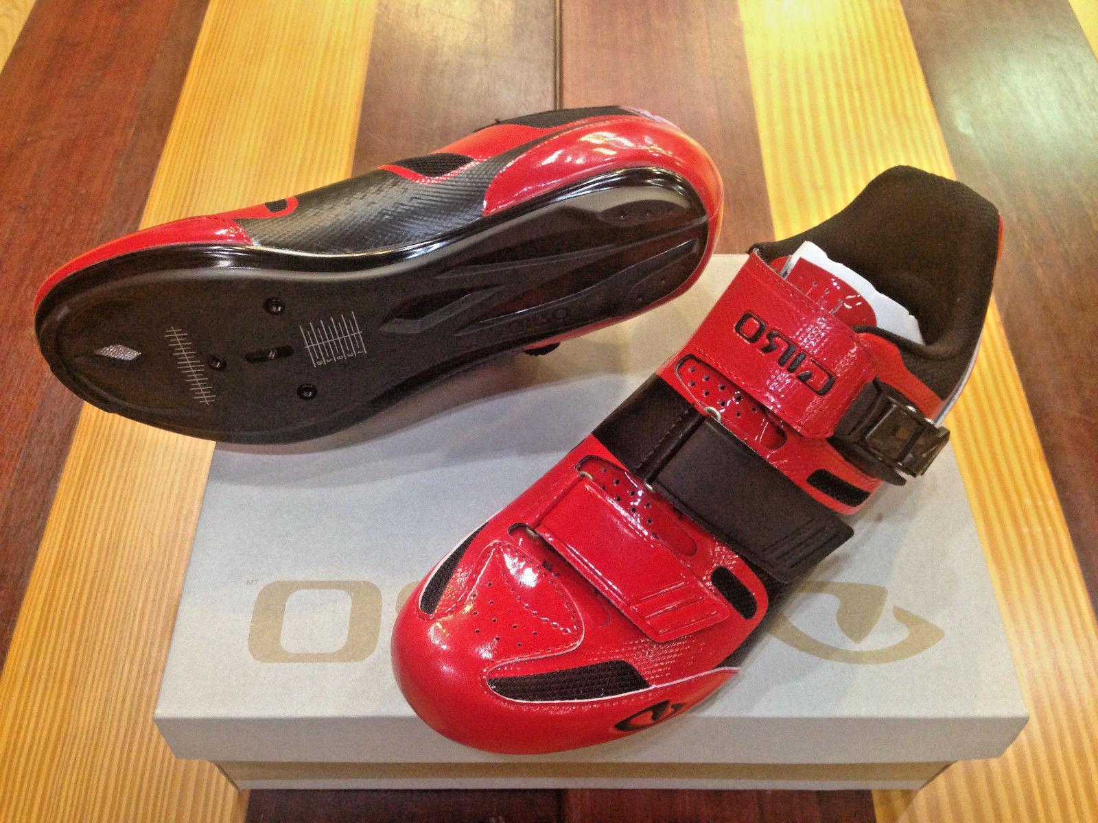 Giro Apeckx II - Bright Red/Black - Men's Cycling Shoes