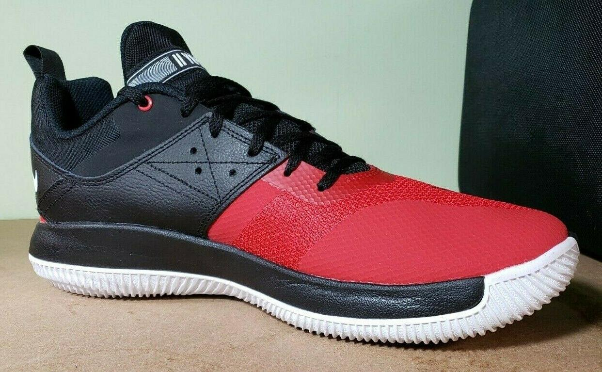 Nike Basketball Fly Low II Black Gym Red White