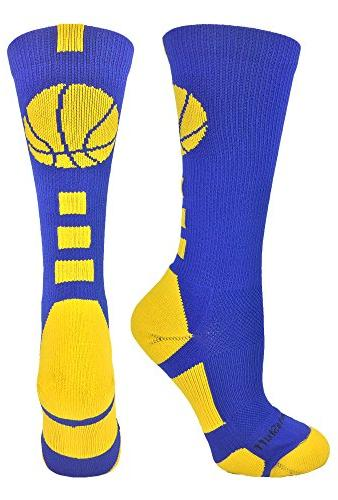 basketball logo athletic crew socks
