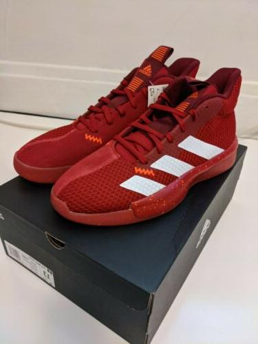 Adidas Men's Red Pro 2019 Sneakers SIZE 13
