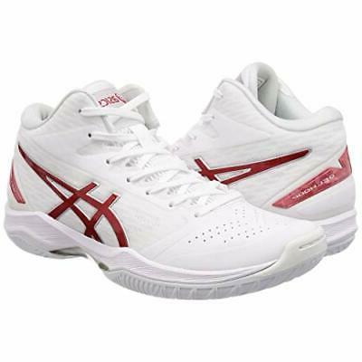 ASICS Basketball Shoes V11 White Red US8.5