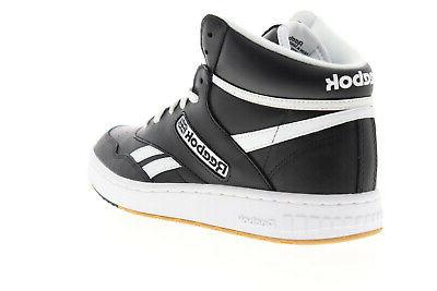 Reebok BB 4600 EH2136 Mens Black Leather Up Basketball Shoes
