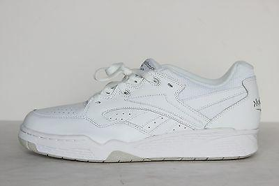 Reebok BB4000 Mens White Leather Low Top Basketball Shoes -