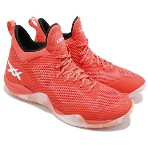 Asics Blaze Nova Coral Orange White Men Basketball Shoes Sne