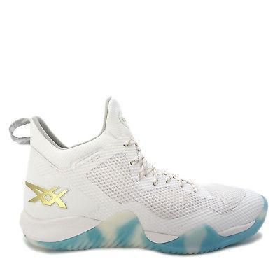 Asics Blaze Nova  Men Basketball Shoes White/Gold-Green