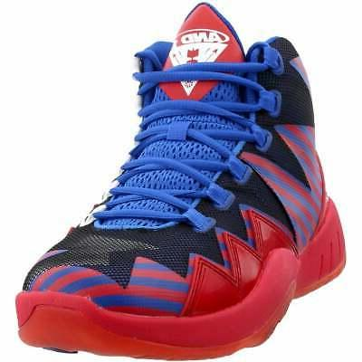 boom athletic basketball shoes red mens