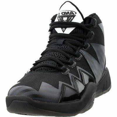 boom athletic basketball shoes black mens