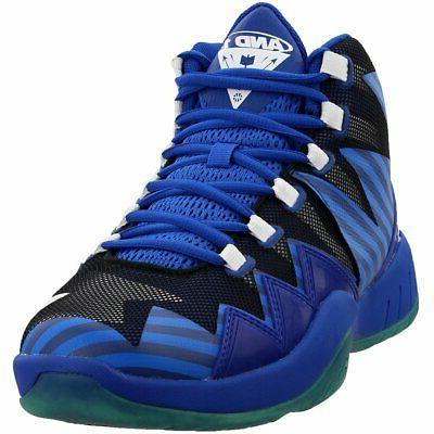 boom basketball shoes blue mens