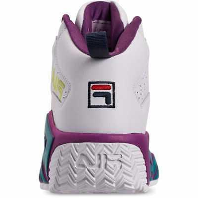 Boys/' Big Kids/' Fila MB Basketball Shoes White//Purple//Turquoise 3BM00533 148