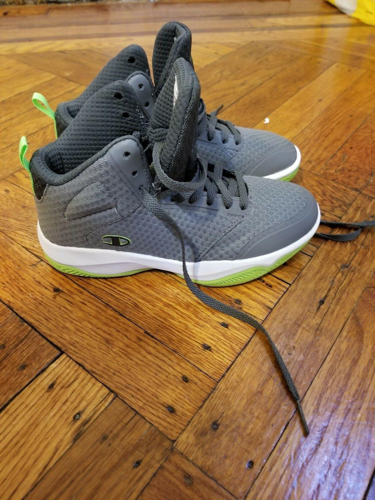 Champion boys inferno basketball shoes size 2 grey