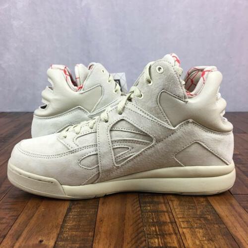 FILA CAGE Basketball Shoes Suede Cream 1VB90129 921 Mens