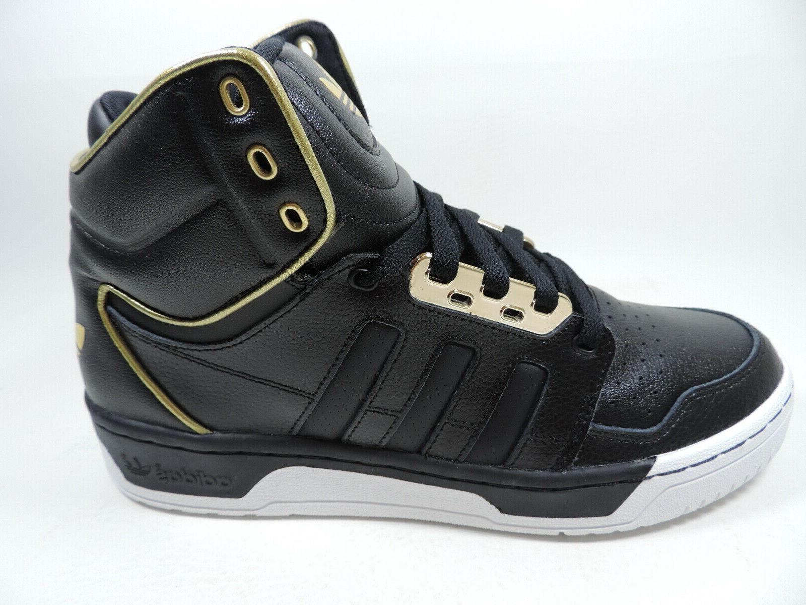 Adidas Mens Shoes Basketball Black Leather Retro