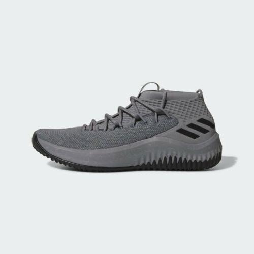 Mens Adidas DAME 4 - Grey Black Lillard Basketball Sneaker