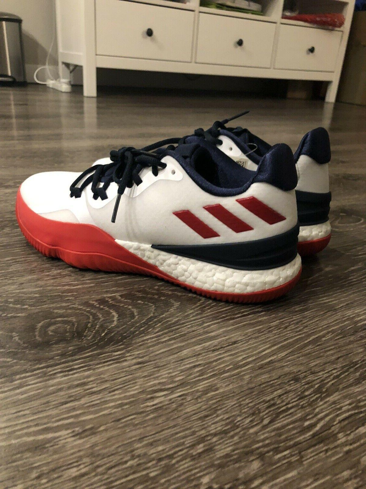 Adidas Boost Men's White Boost Basketball Shoe 8.5