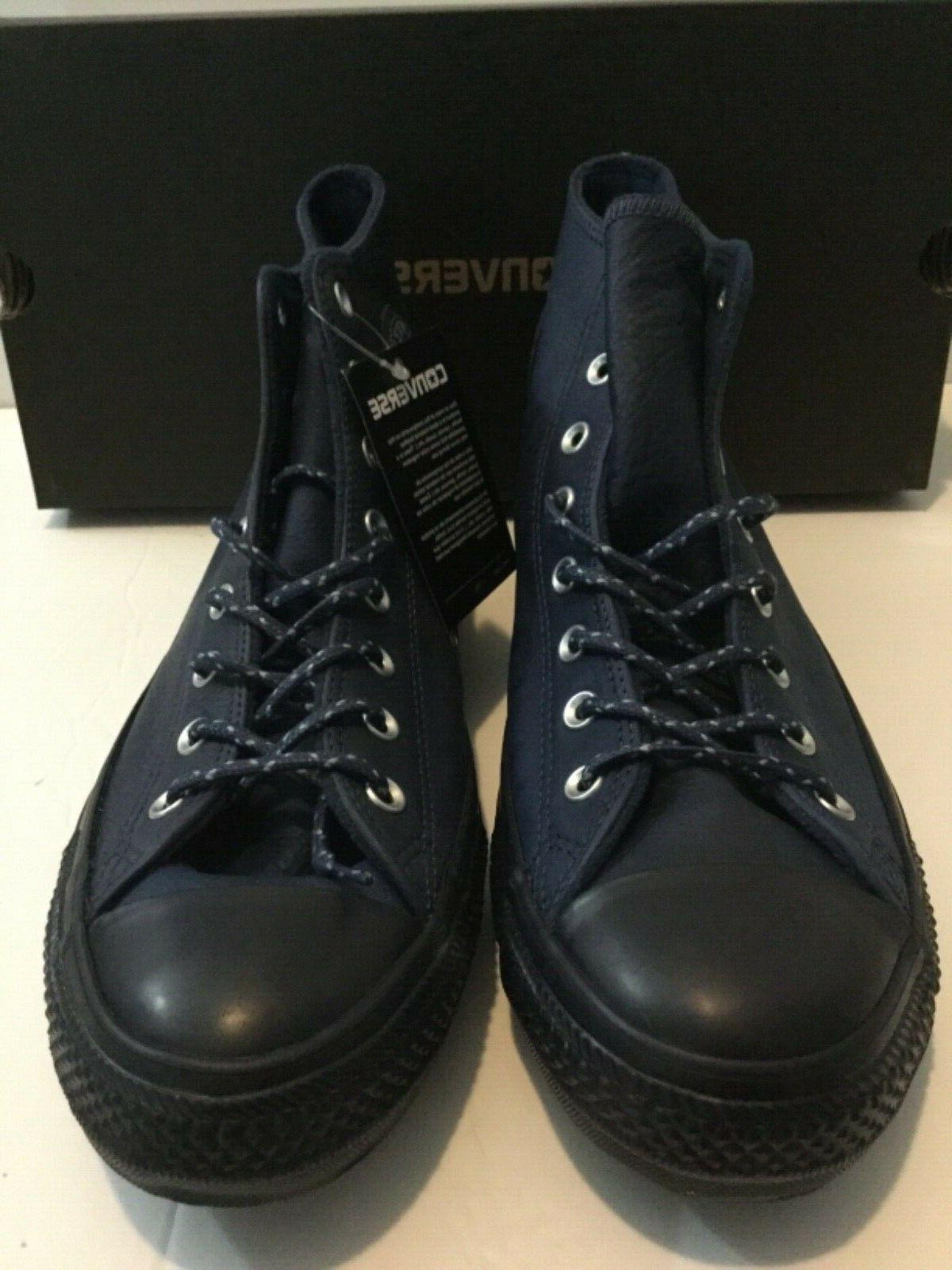 Converse CTAS Navy Leather Mens Size 11.5 New