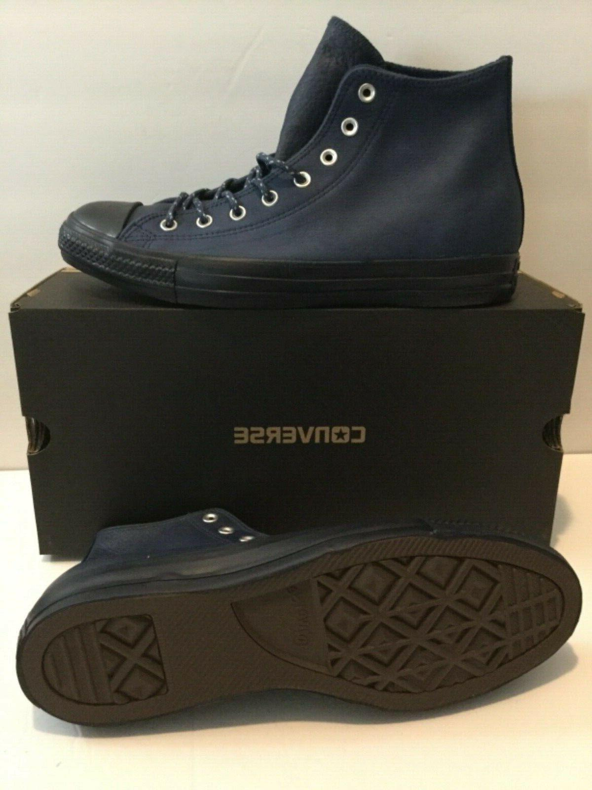 Converse CTAS Navy Leather Mens Size 11.5