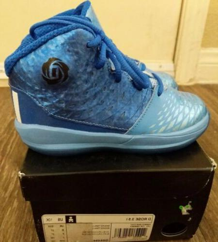 Adidas D Rose 3.5 i Kids Basketball Shoes Size 10K New boost