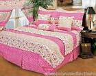 Daisy Stripe Girls' Bed SHEET SET Queen 4pcs New #7271 Teens