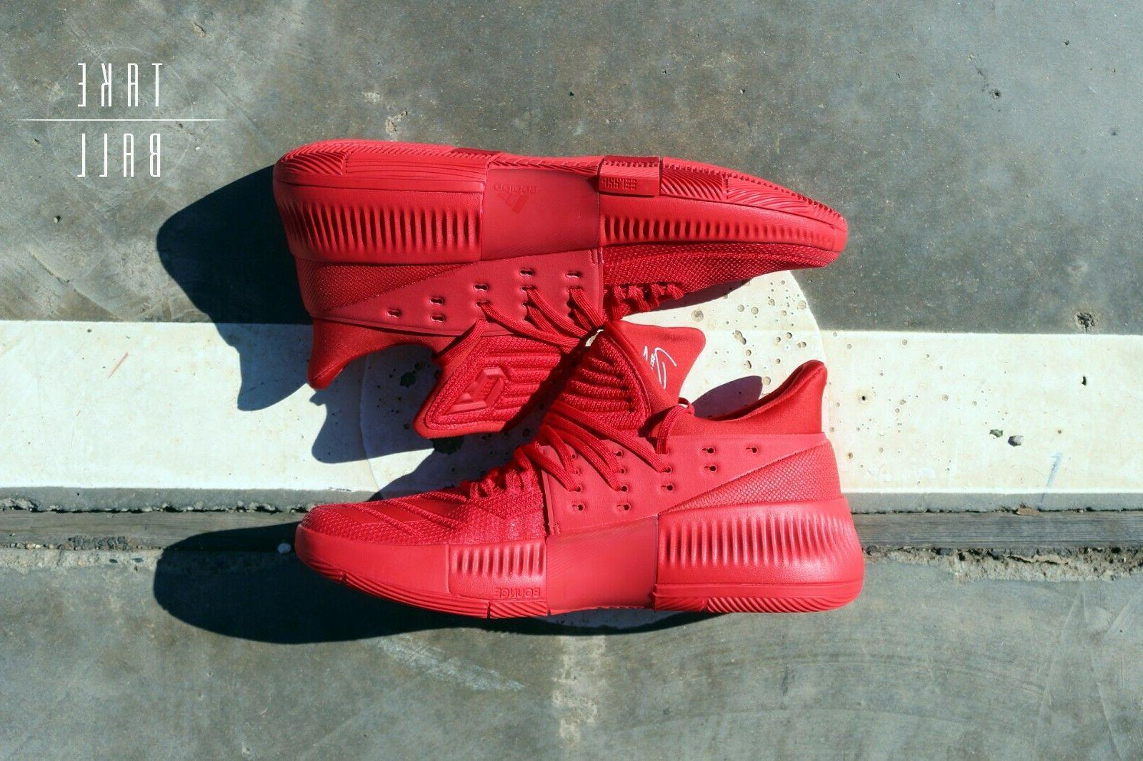 adidas Dame 3 Lillard Roots Red Shoes Portlands Blazers DS