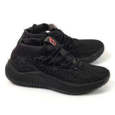 Adidas Dame 4 J Black/Black/Scarlet Damian Lillard Basketbal