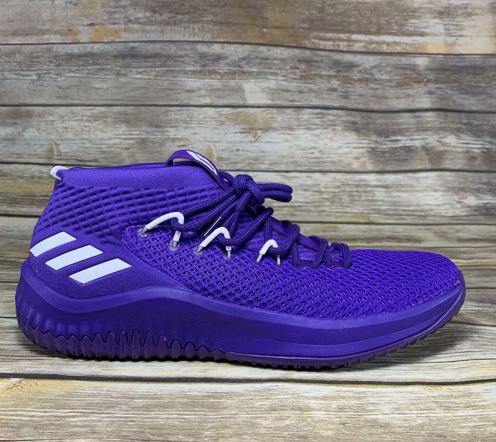Adidas Dame 4 Men's Basketball Shoes Purple White Damian L S