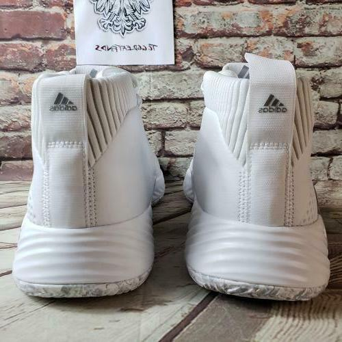 Adidas 5 Team Size Basketball Sneakers White EE5424