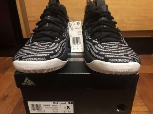 Adidas Dame Lillard BHM Shoes Mens Size 8.5 Oreo AQ0380 Rare
