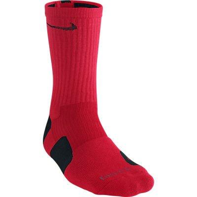 elite crew sock red black