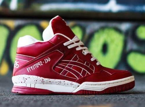 gel spotlyte h447l 5201 basketball shoes burgandy
