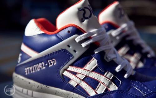 ASICS GEL SPOTLYTE H447L-5201 BASKETBALL BLUE/WHITE 100%