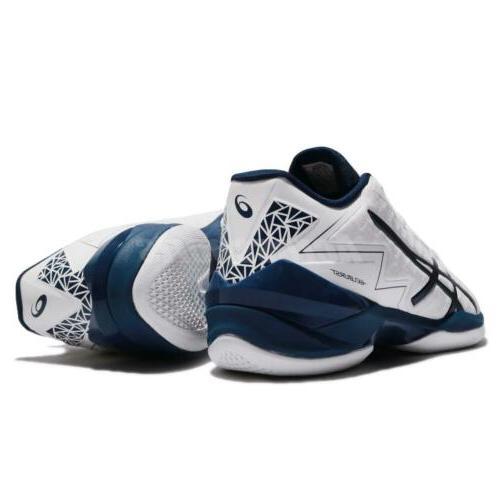 Asics White Black Men Basketball Sneakers TBF338-0150