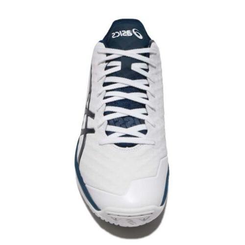 Asics 21 White Blue Men Basketball Sneakers