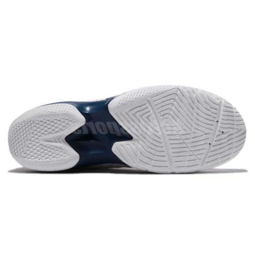 Asics White Black Blue Basketball Sneakers