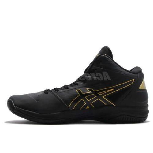 Asics Gelhoop Wide Black Gold Basketball Sneakers