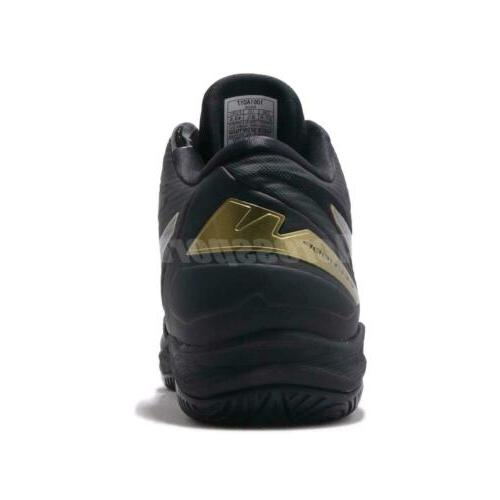 Asics Gelhoop Wide Black Gold Men Basketball Shoes Sneakers 1061A017-005