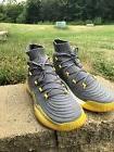 Adidas Geo Fit Men's Size 13 Grey Yellow Hi-top Basketball S