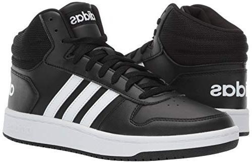 adidas Men's Hoops 2.0, White/Black, 11 US
