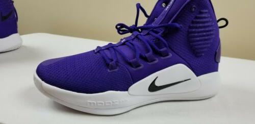 Nike X Basketball Shoes Purple Black White size 14