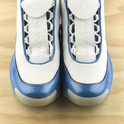 Reebok Iverson Athletic Blue White Basketball Shoes