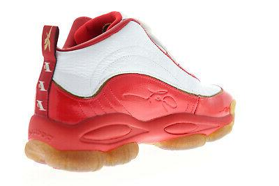 Reebok Iverson Mens Red Leather Gym