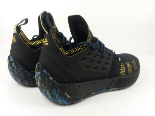 ADIDAS Harden Vol. 2 MVP 2018 Shoes Black Gold Men's Size