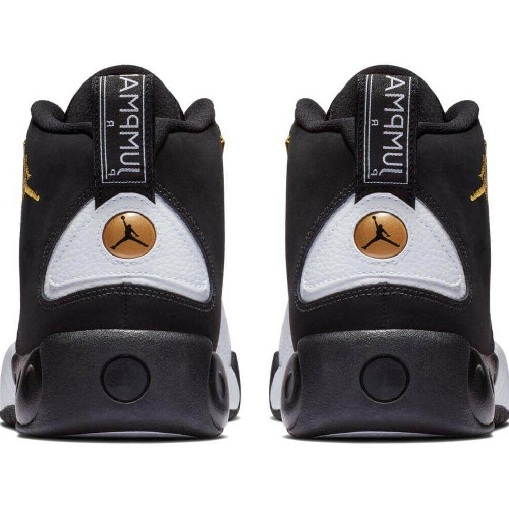 Jordan Pro Black/Metallic Gold-White 906876-032 Mens Basketball Shoes