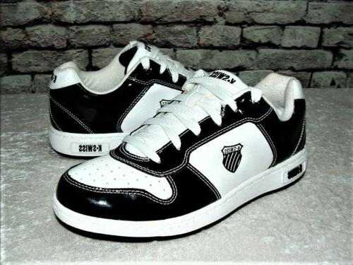 K-SWISS Men's SAMPLE BLK/WHT CLassic Fashion SNeaKeR SHoE 01