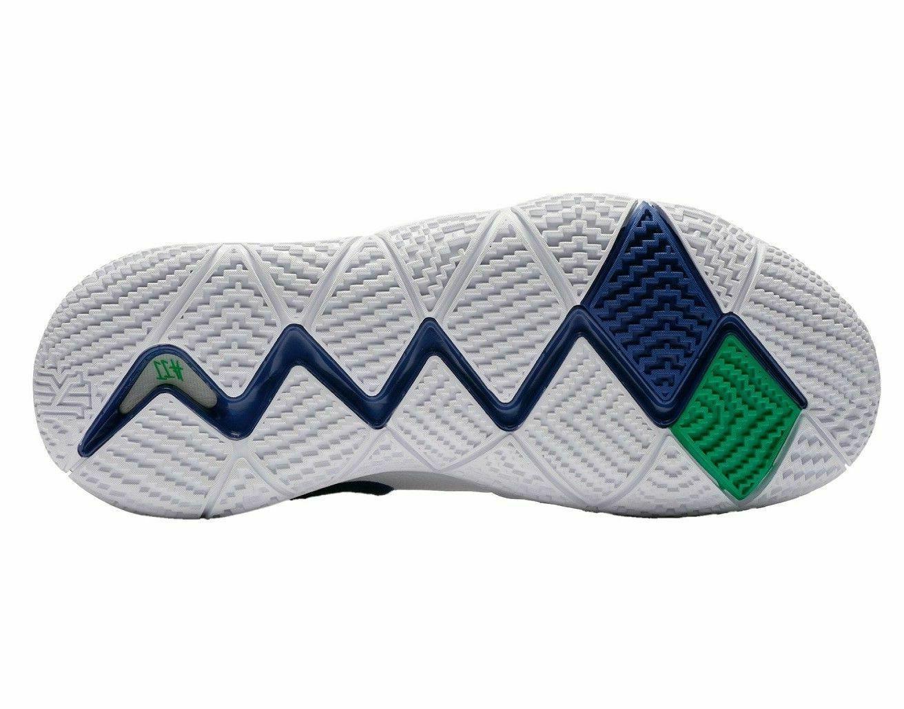 Nike 4 Mens Basketball 943806 White Deep Royal Seahawks NIB