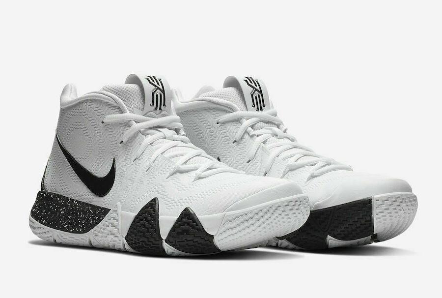 kyrie 4 tb basketball shoes white black