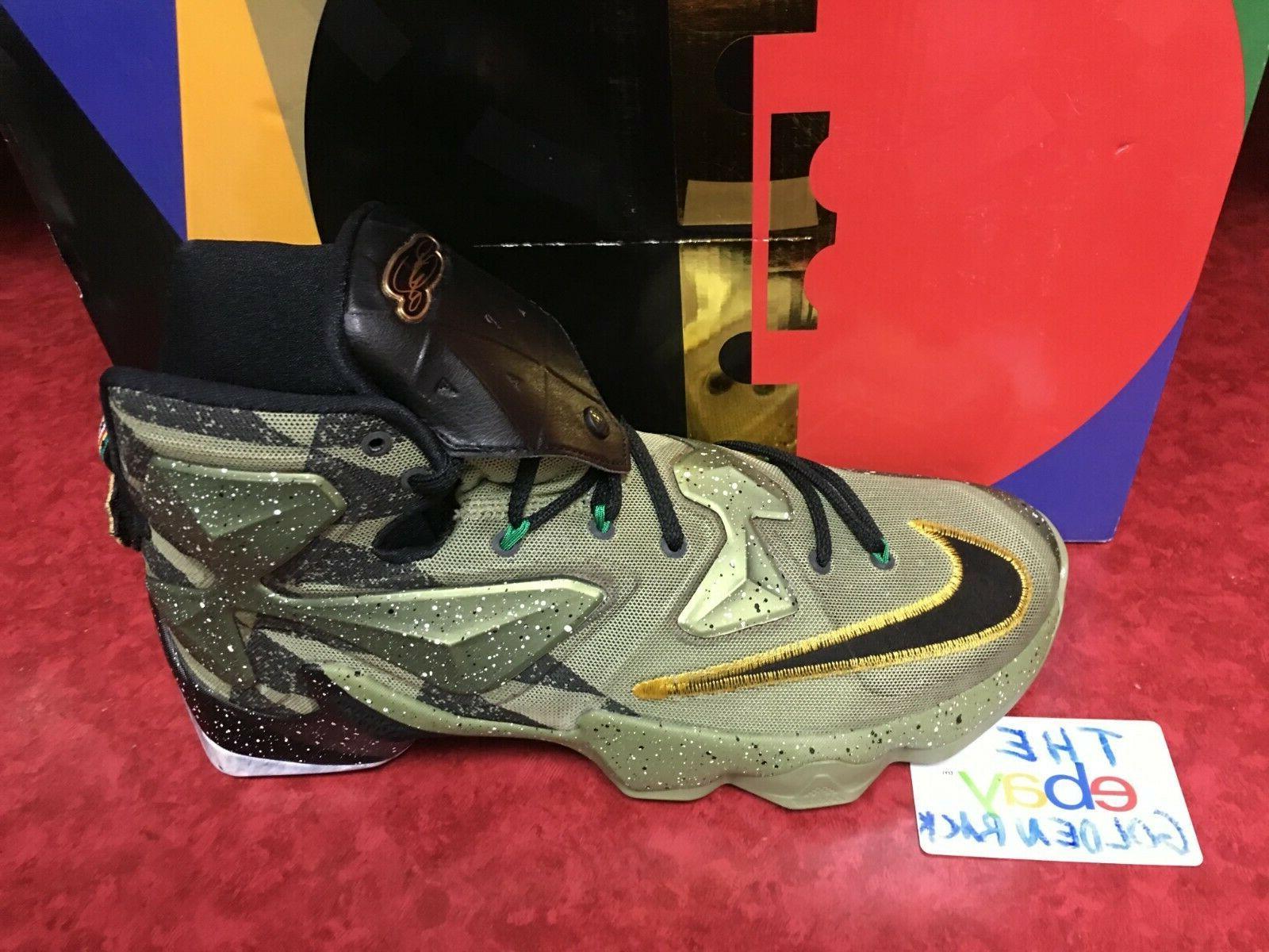 NIKE LeBron 13 Star Shoes 835659-309 Green 12 NIB