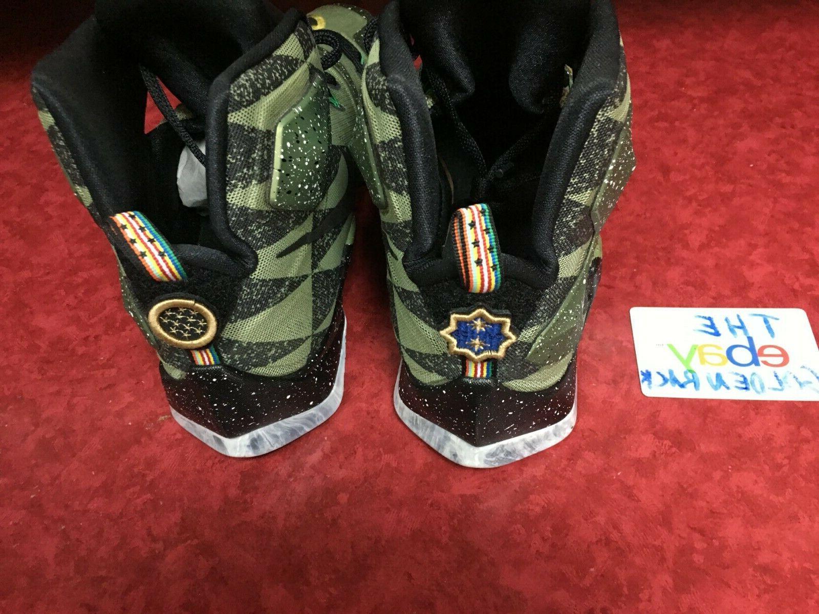 NIKE 13 Star Basketball Shoes 835659-309 Green Black Mens Sz 12 NIB