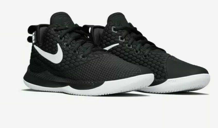 lebron witness iii basketball shoes black gray